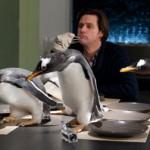 Filmavimo aikštelėje J.Carrey auklėjo pingvinus